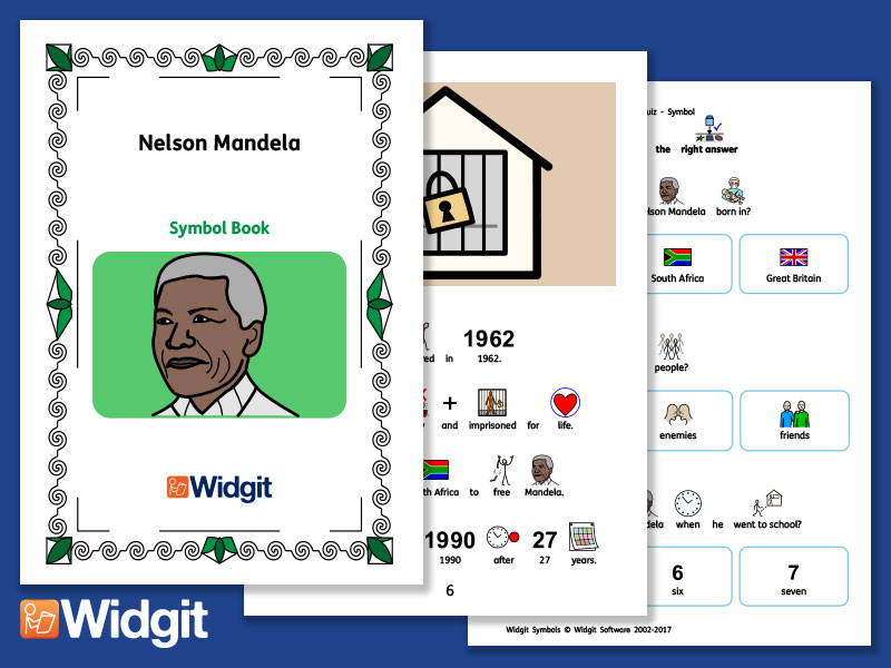 Nelson Mandela - Books and Activities with Widgit Symbols