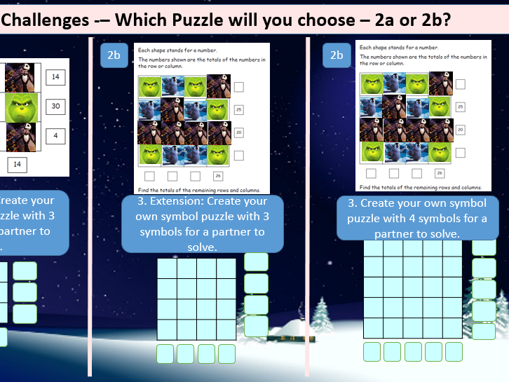 Year 4 or 5 Christmas Maths Problem Solving