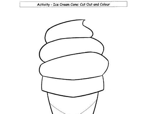 Colouring: Ice Cream Cone