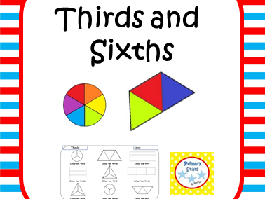 fractions - Thirds and Sixths
