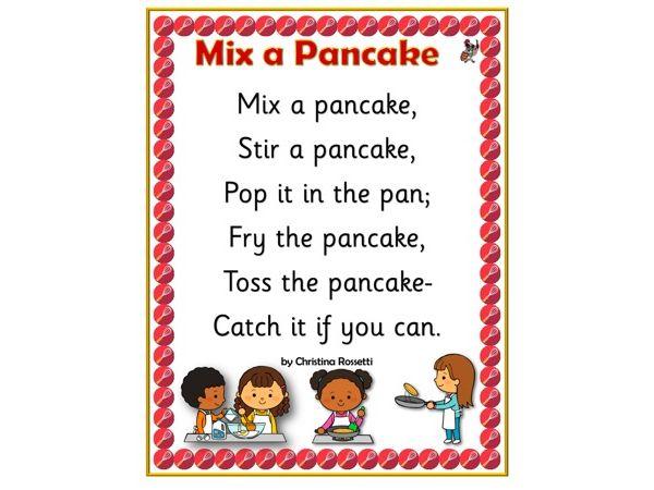 Mix a Pancake Poem Poster