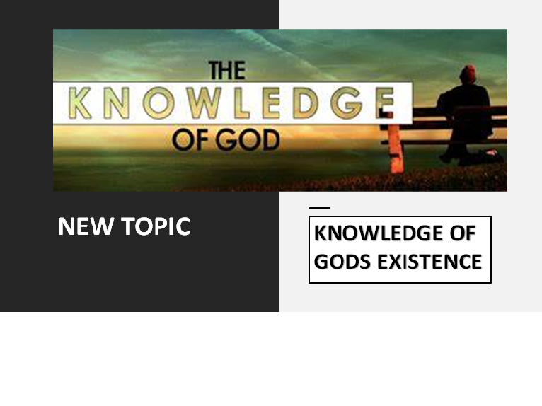 KNOWLEDGE OF GOD'S EXISTENCE PACK  DCT OCR
