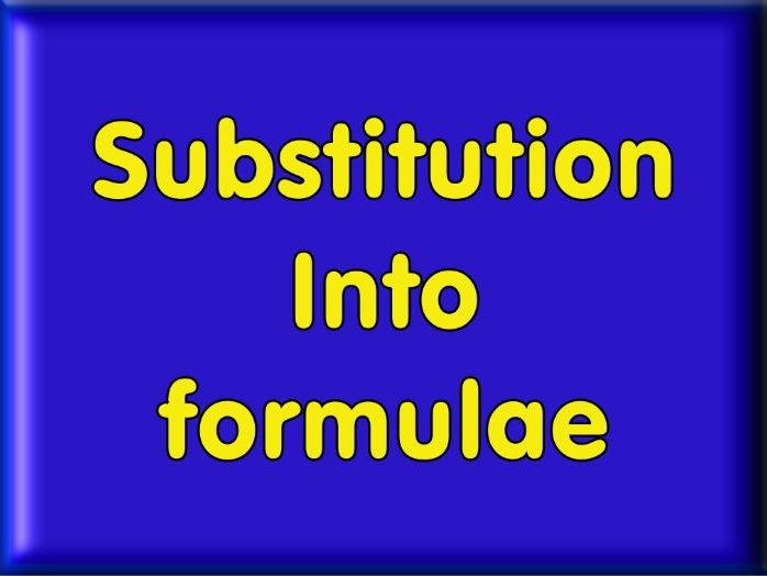 Substitution - Worded Problems Worksheet - With Answers