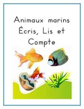 Animaux marins (Sea Animals in French) Worksheets
