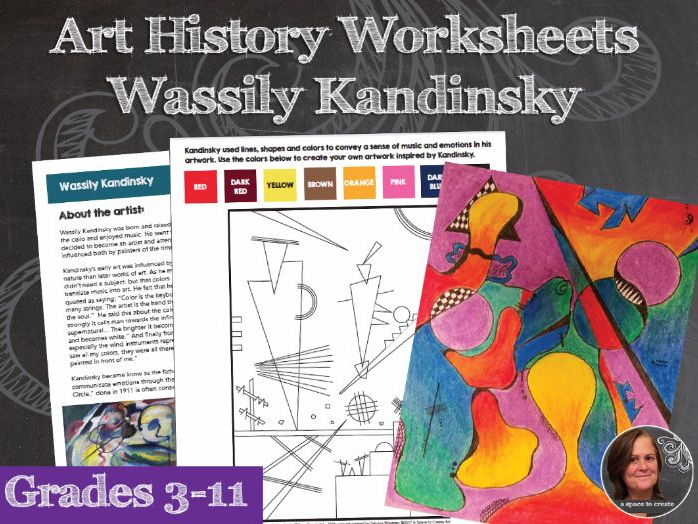 Wassily Kandinsky Art History Worksheet and Activities Packet