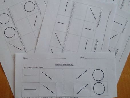 Pre-writing literacy (matching lines)
