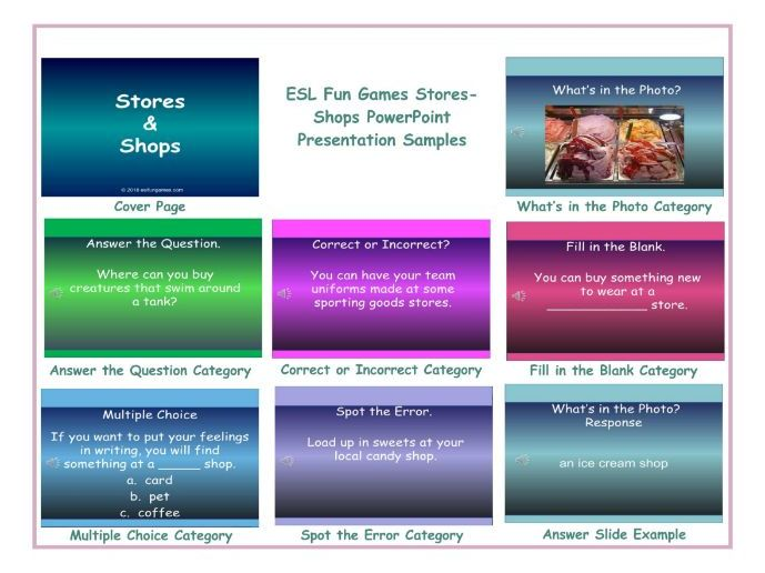 Stores-Shops PowerPoint Presentation