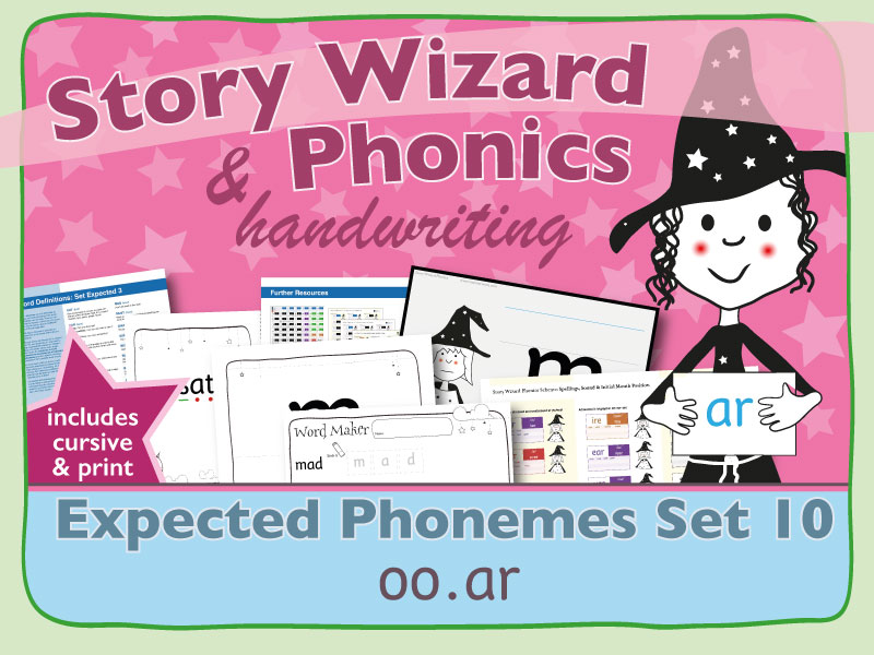 Phonics & Handwriting: Expected Phonemes Set 10: oo.ar