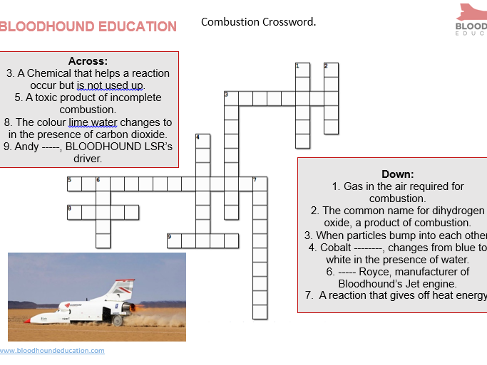 COMBUSTION CROSSWORD home school: BLOODHOUND LSR