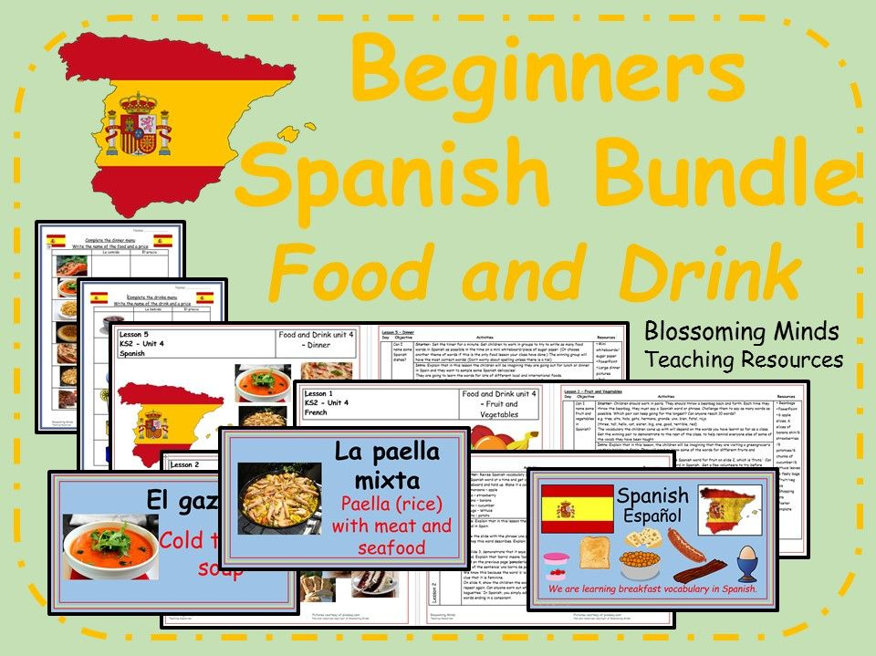 Spanish Lesson Bundle - KS2 - Food and Drink