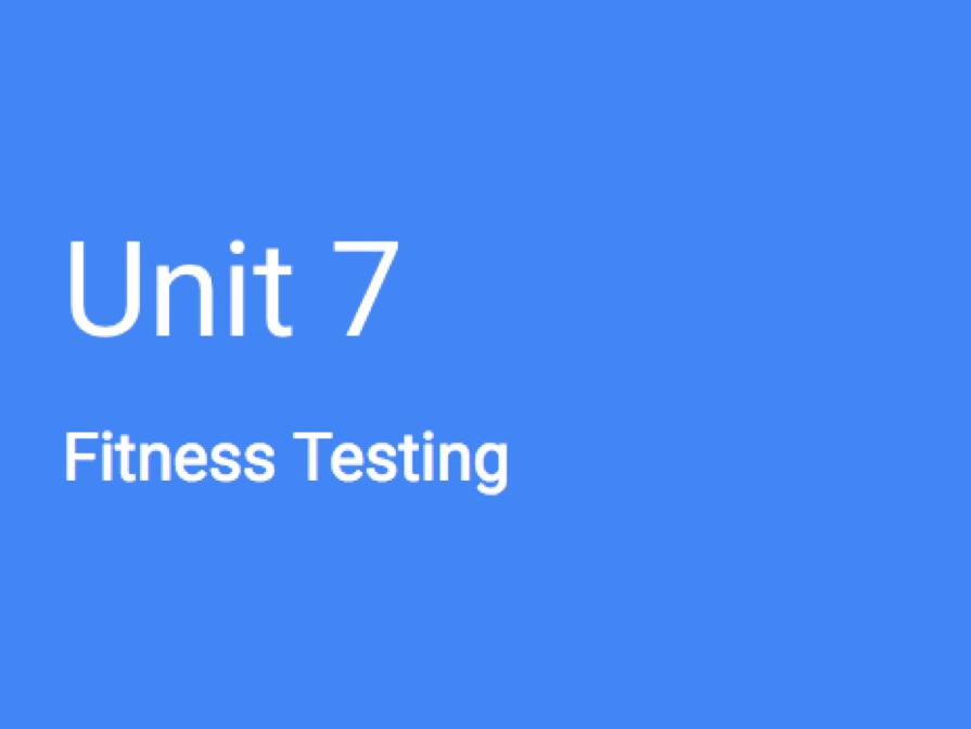 BTEC Sport L3: Unit 7