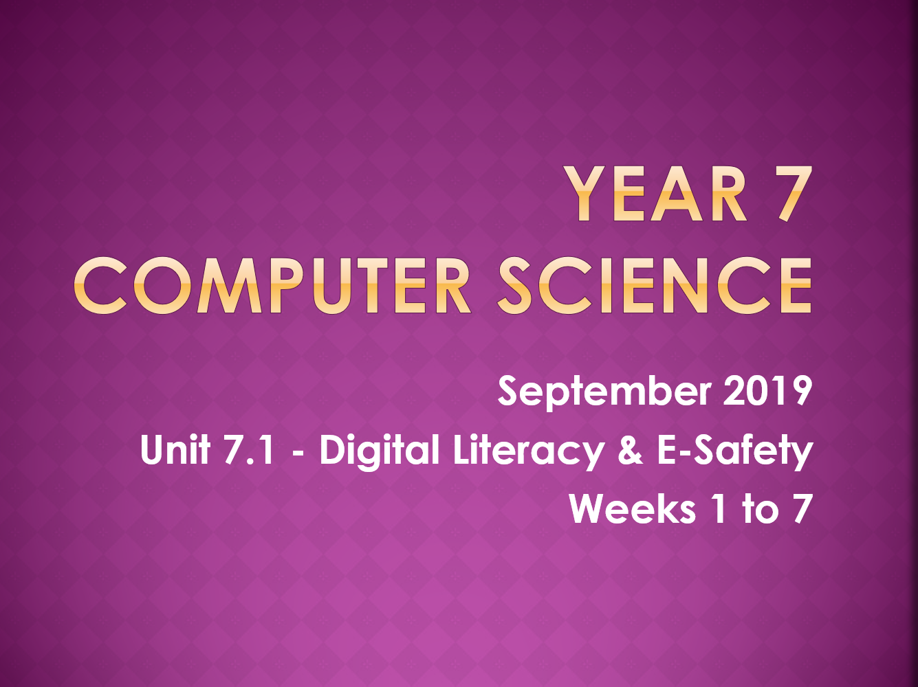 Complete Computer Science KS3 SOW: Digital Literacy