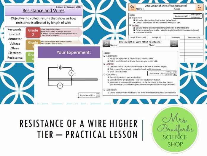 Resistance of a Wire Practical Lesson
