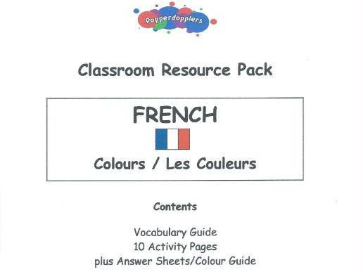 French Colours: Classroom Resource Pack of 10 Worksheets and Answers (KS1/KS2)