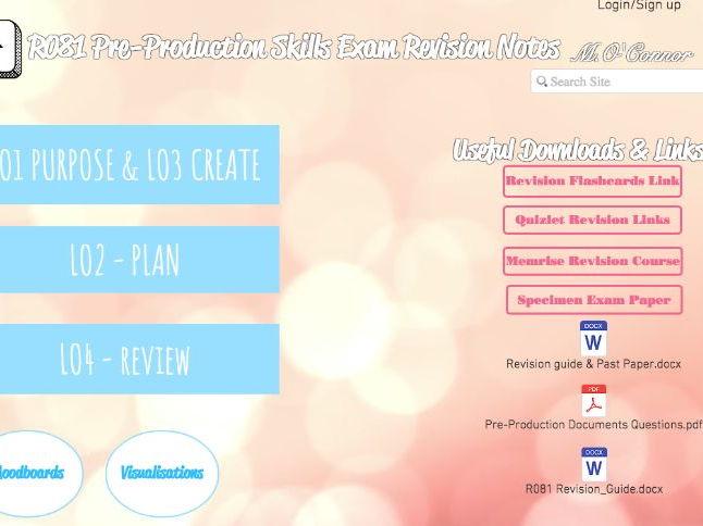 Creative Imedia Pre-production Skills Exam R081