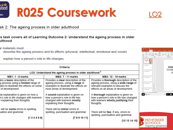 R025 [LO2 complete] Understanding life stages - Cambridge Nationals L1/2