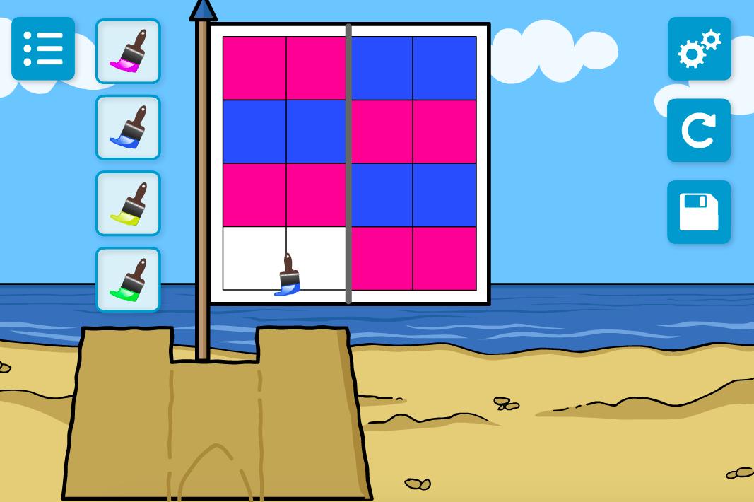 Flag Maker Interactive Activity - KS1 Geometry