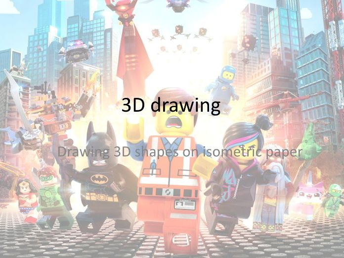 3D Drawing - Lego Movie - Isometric Paper - Plans and Elevations