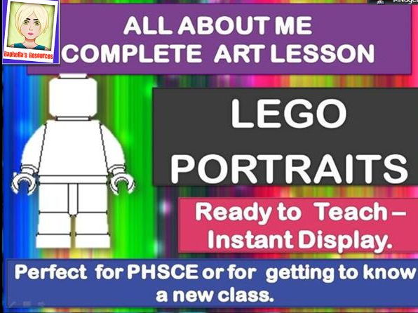 MEETING YOUR NEW CLASS/TRANSITION DAY  - ALL ABOUT ME - COMPLETE ART LESSON - LEGO PORTRAITS