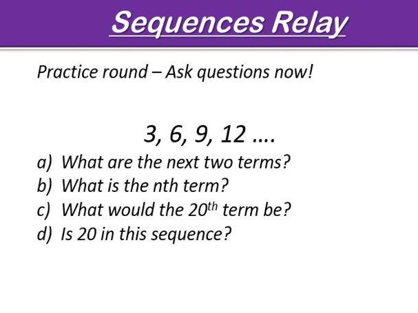 Sequences Relay