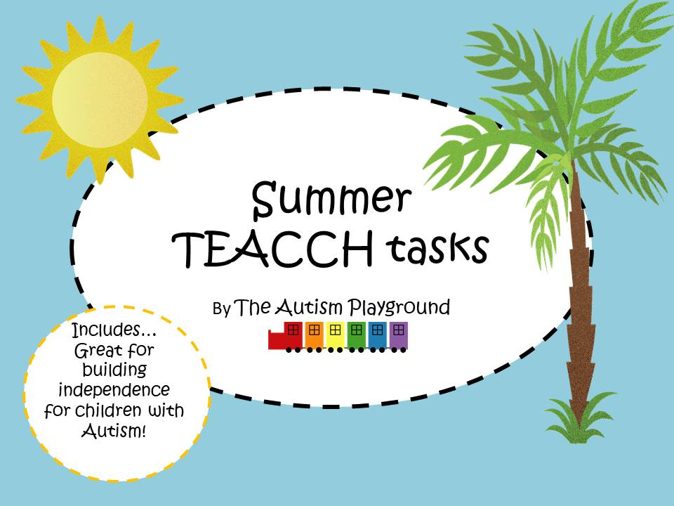 Summer TEACCH Tasks - Independent Maths and Reading activities for pupils with Autism and SEND
