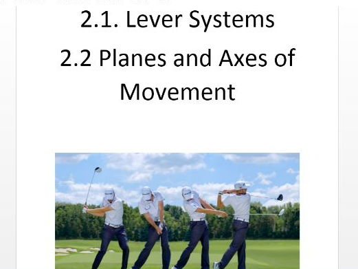 Edexcel GCSE PE 9-1. Lever Systems/Planes & Axes Workbook & Answer Booklet