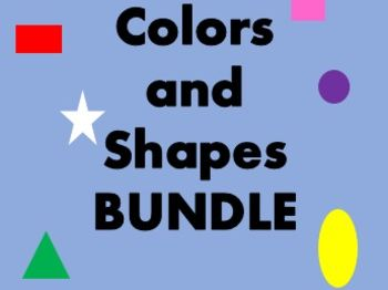 Cores e Formas (Colors and Shapes in Portuguese) Bundle