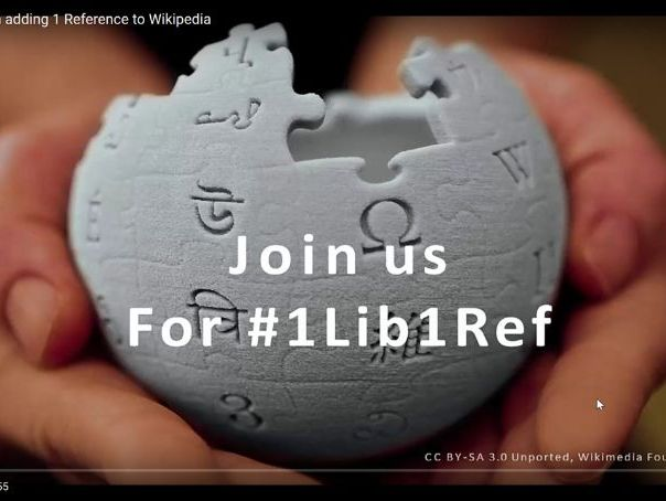 #1Lib1Ref - How to give Wikipedia a present for its birthday!