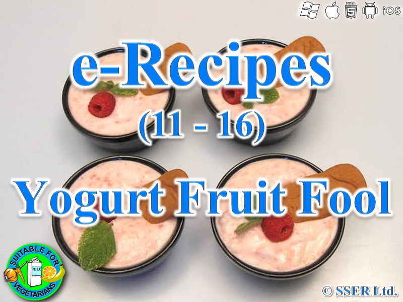 60.   Yogurt Fruit Fool (e-Recipe)