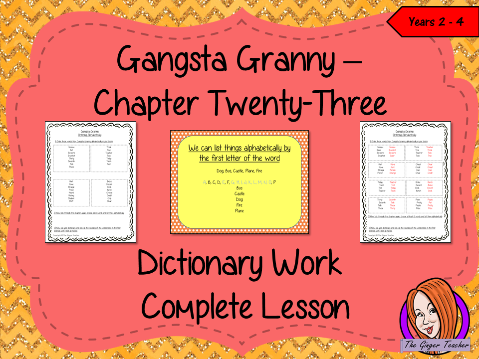 Dictionary Work Lesson – Gangsta Granny