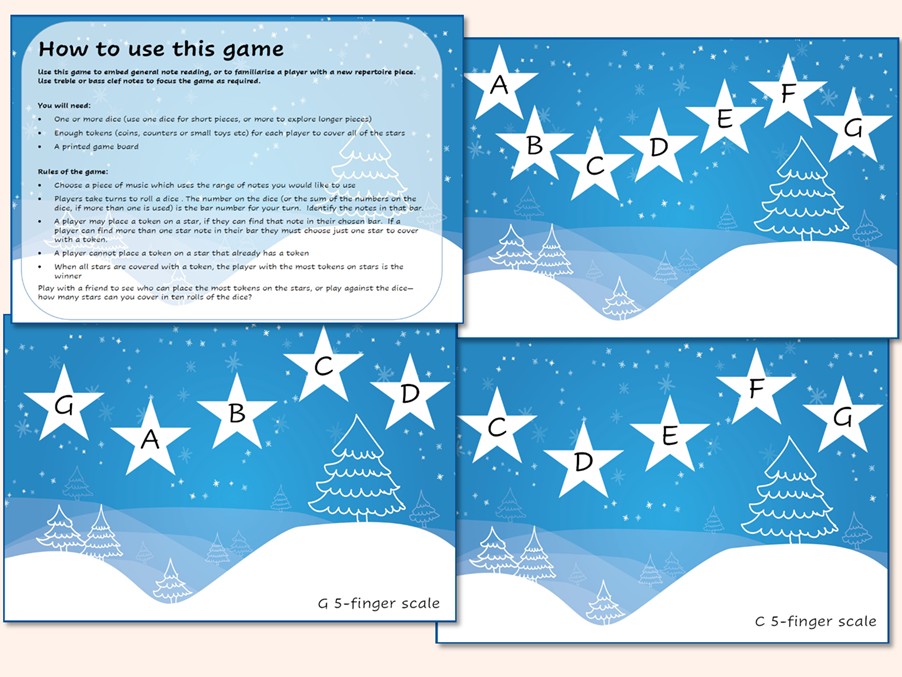 Music  Theory Note Recognition Star Game