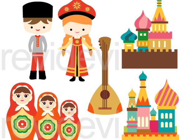 Russian Culture Clip Art Graphics
