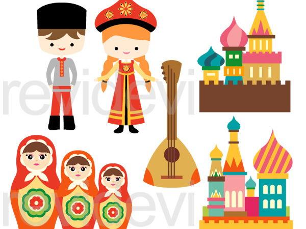 Russian Culture Clip Art Graphics