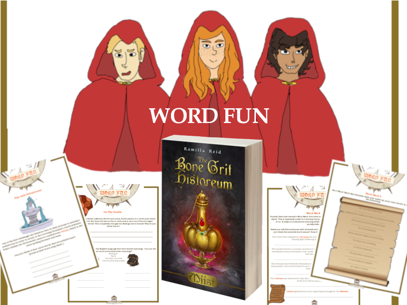 Word Fun inspired by the bestselling middle grade novel, Miist by Kamilla Reid