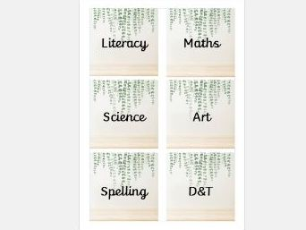 Editable square book box labels (Natural)