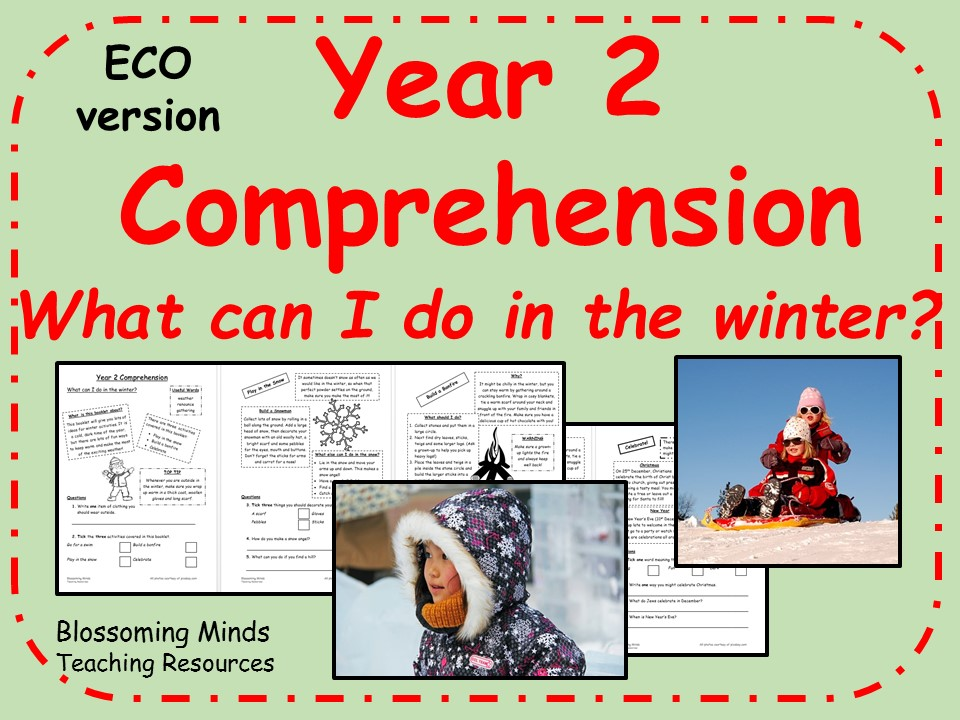ECO year 2 reading comprehension - winter activities