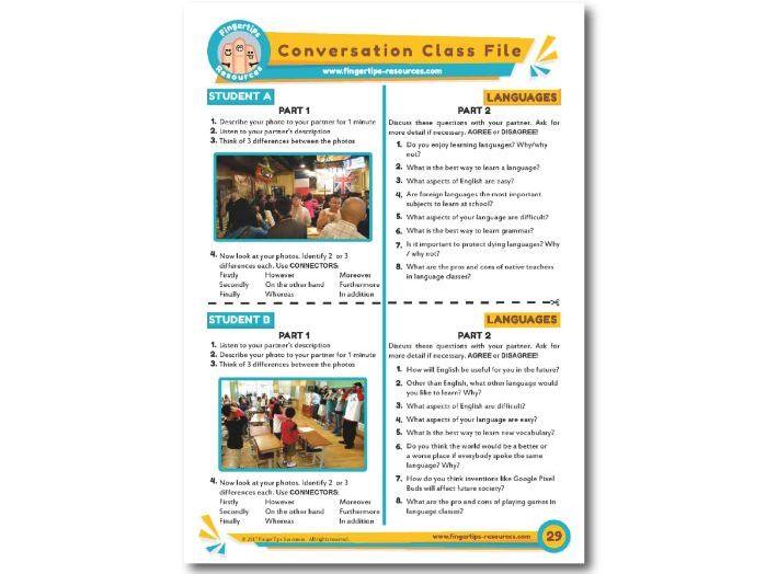 Languages - ESL Conversation Activity