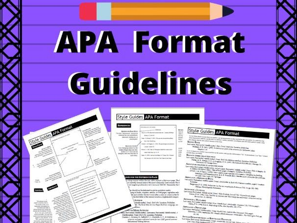 APA Format Guidelines for Research