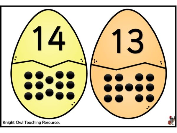 Easter Egg Matching Game to 20
