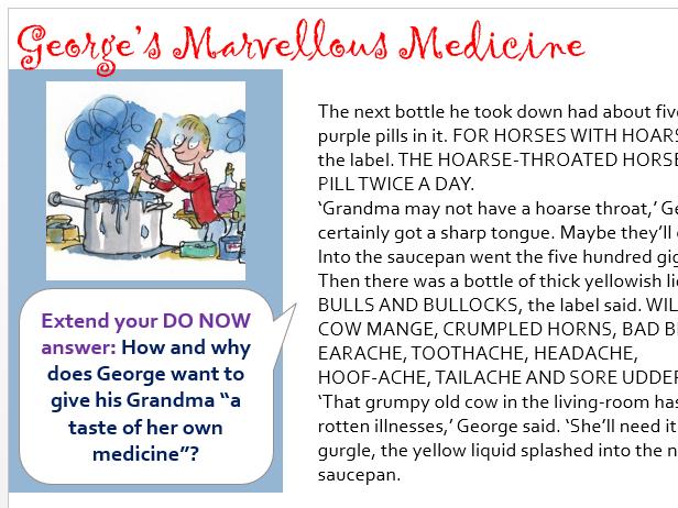 Literacy: George's Marvellous Medecine