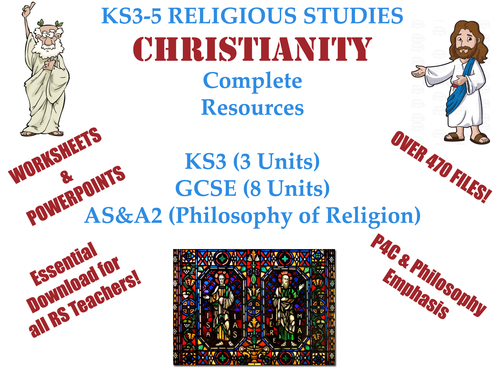 CHRISTIANITY (KS3-5) [Massive collection of 470+ files] [Bargain!]