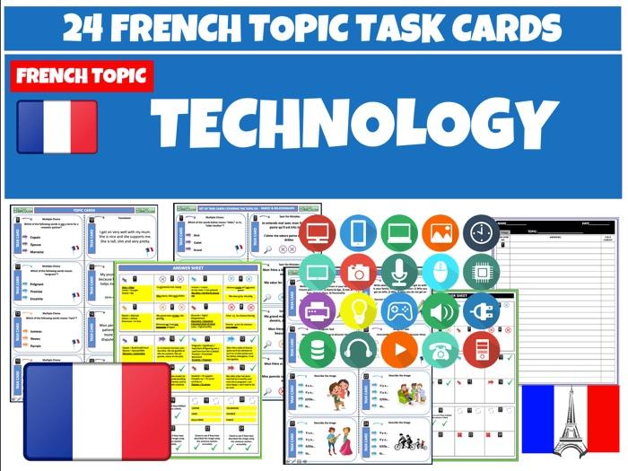 Technology - French MFL Task Cards