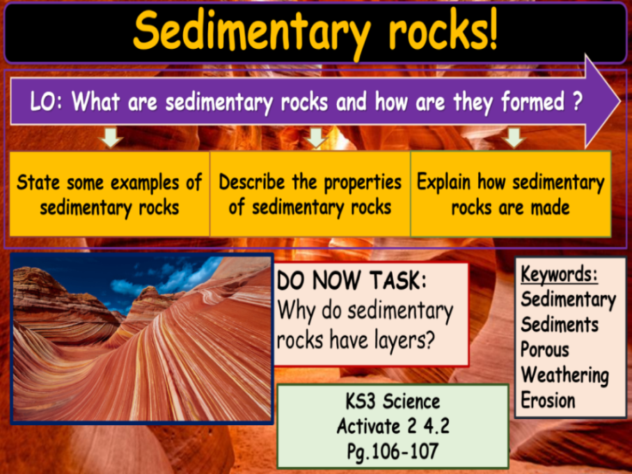 Sedimentary rocks KS3 Activate Science