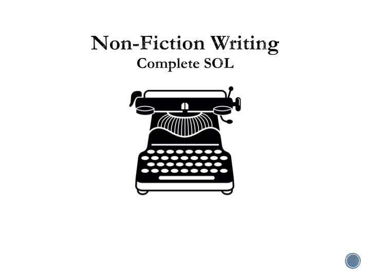 Non-Fiction Writing - Complete SOL