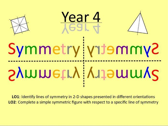 Year 4: Symmetry (5 lesson Unit of Work + Mini-Assessments)