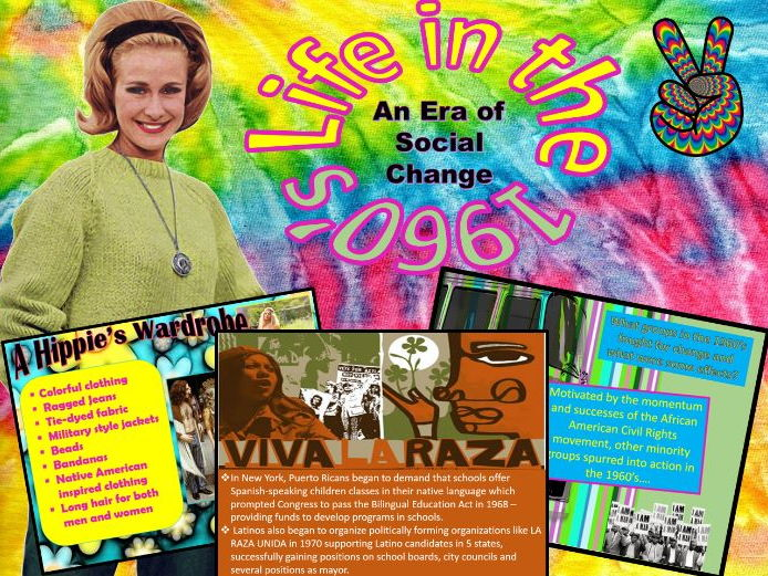 1960's U.S. History: Social Movements ~A Power-point & Interactive Student Activity ~