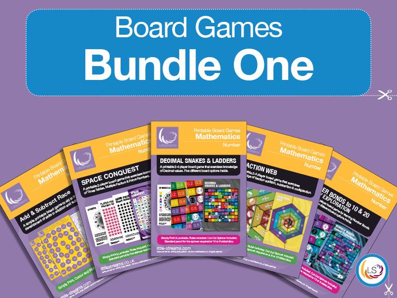 Board Game BUNDLE | Fractions, Add & Subtract, Bonds, Decimals, Factors & Primes