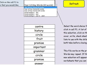 Year 3 and 4 Spellings