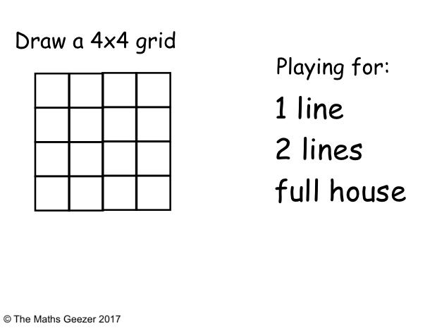 Area & Perimeter Bingo