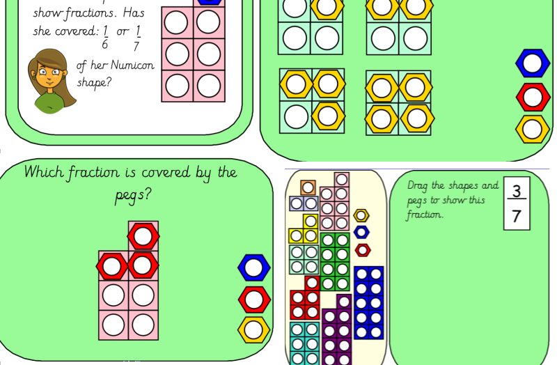 Numicon Fractions Representing and Shading Fractions to 10/10